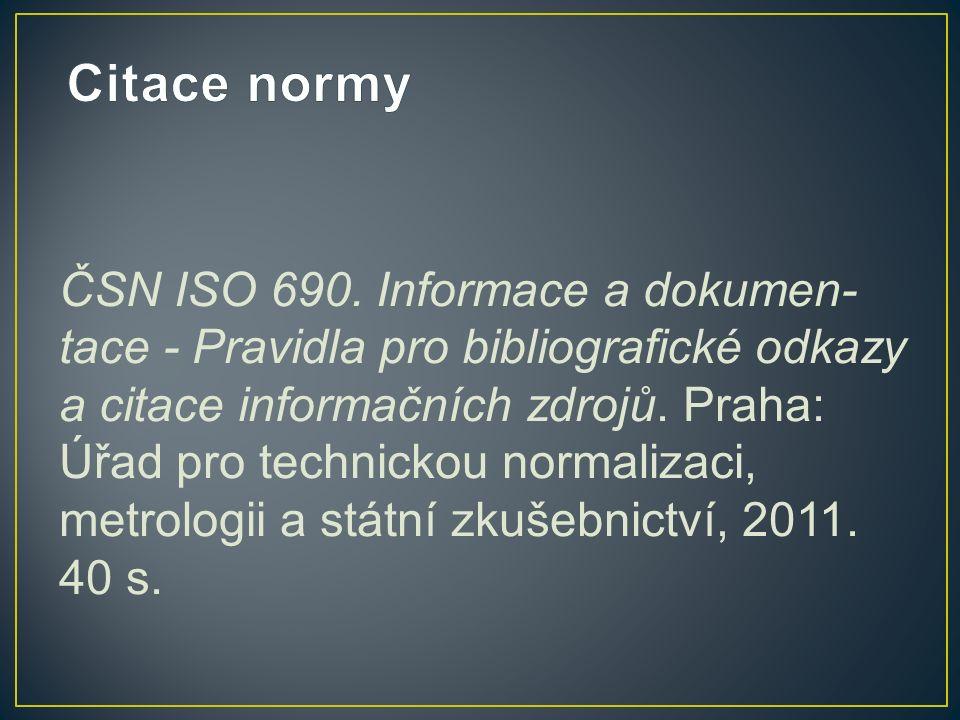 ČSN ISO 690.