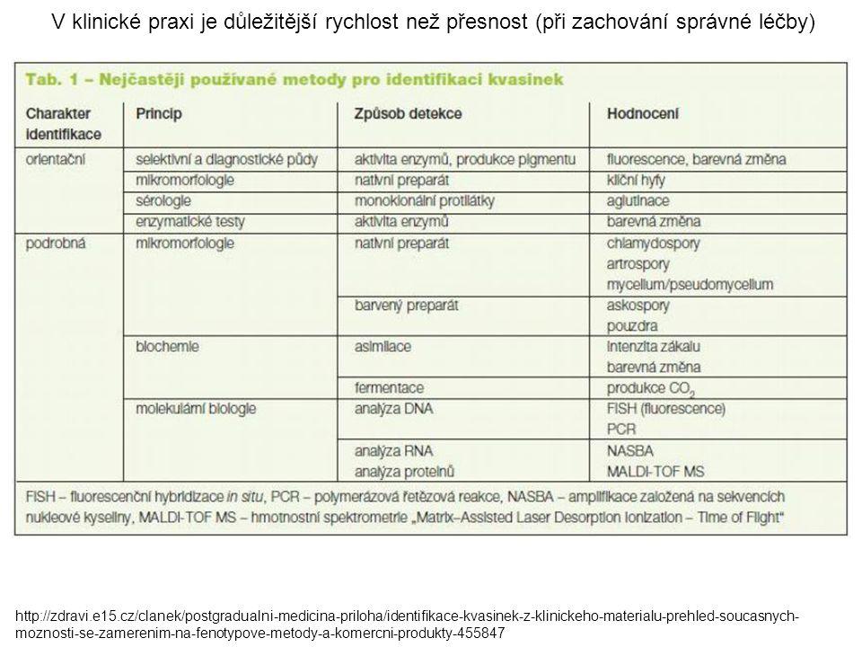 V klinické praxi je důležitější rychlost než přesnost (při zachování správné léčby) http://zdravi.e15.cz/clanek/postgradualni-medicina-priloha/identif