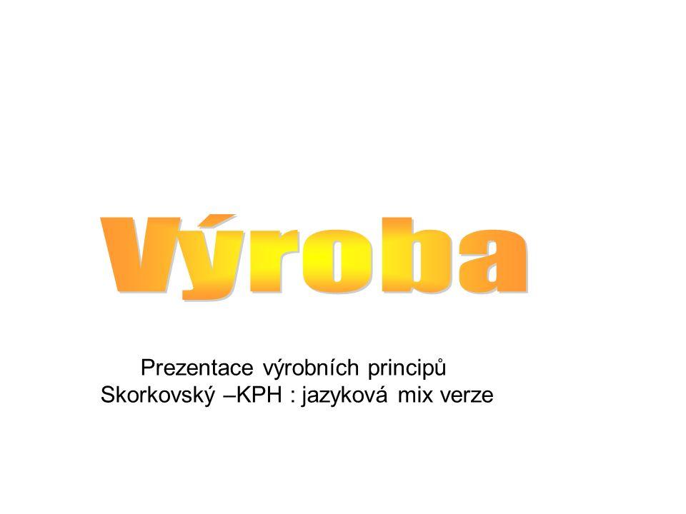 Prezentace výrobních principů Skorkovský –KPH : jazyková mix verze