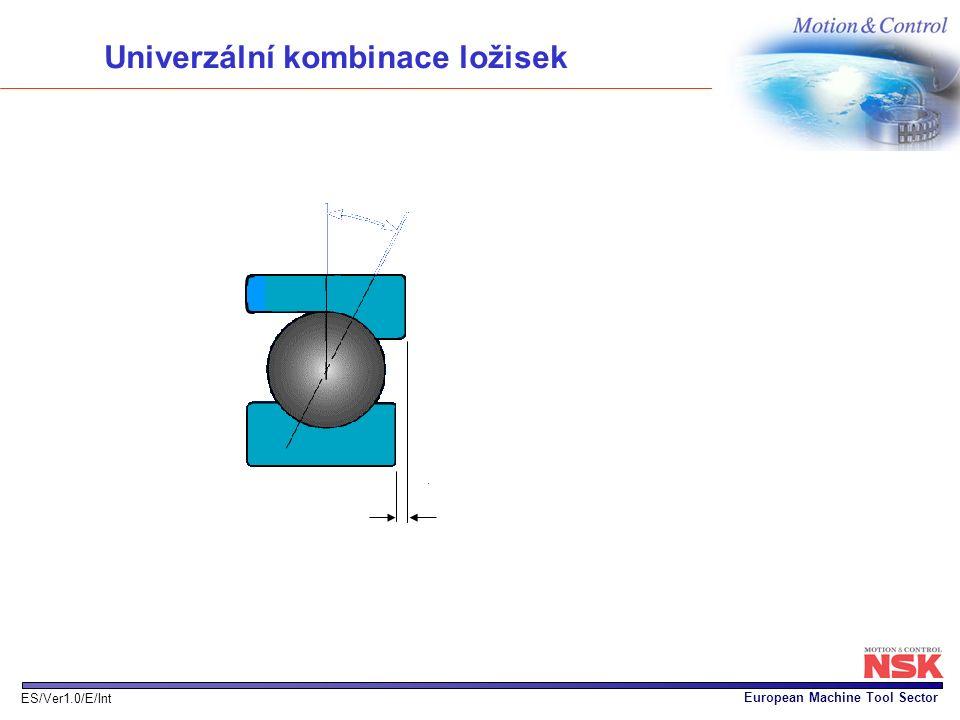 European Machine Tool Sector ES/Ver1.0/E/Int Univerzální kombinace ložisek