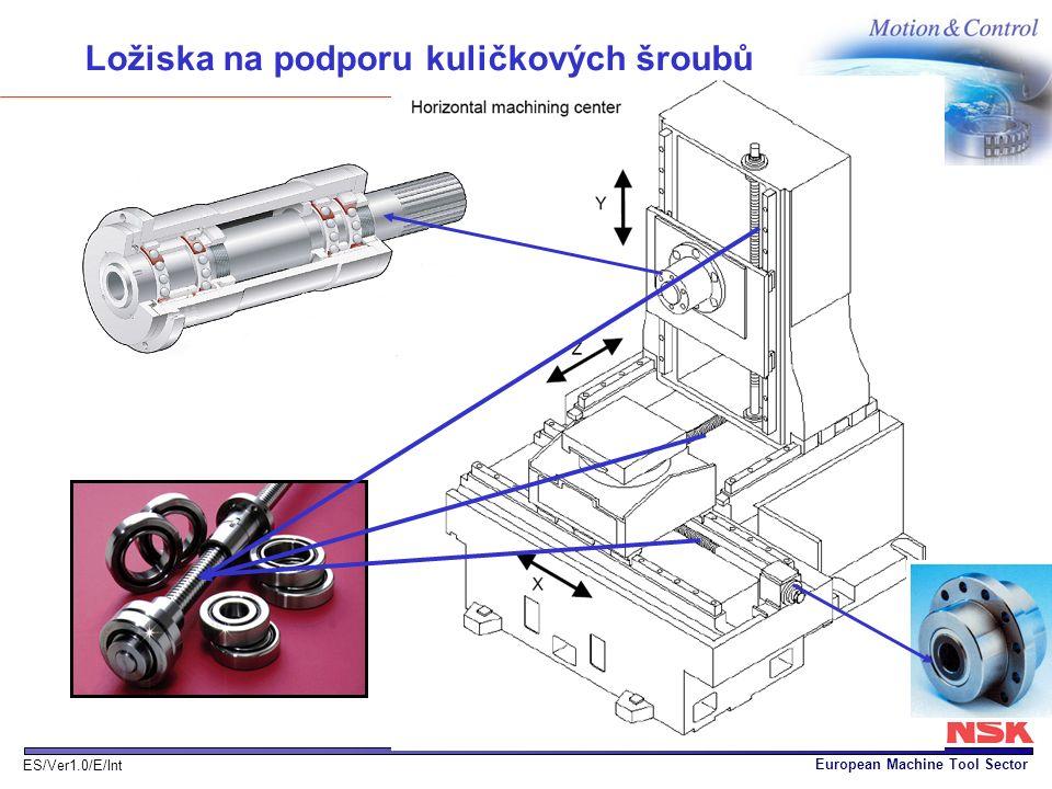 European Machine Tool Sector ES/Ver1.0/E/Int Ložiska na podporu kuličkových šroubů