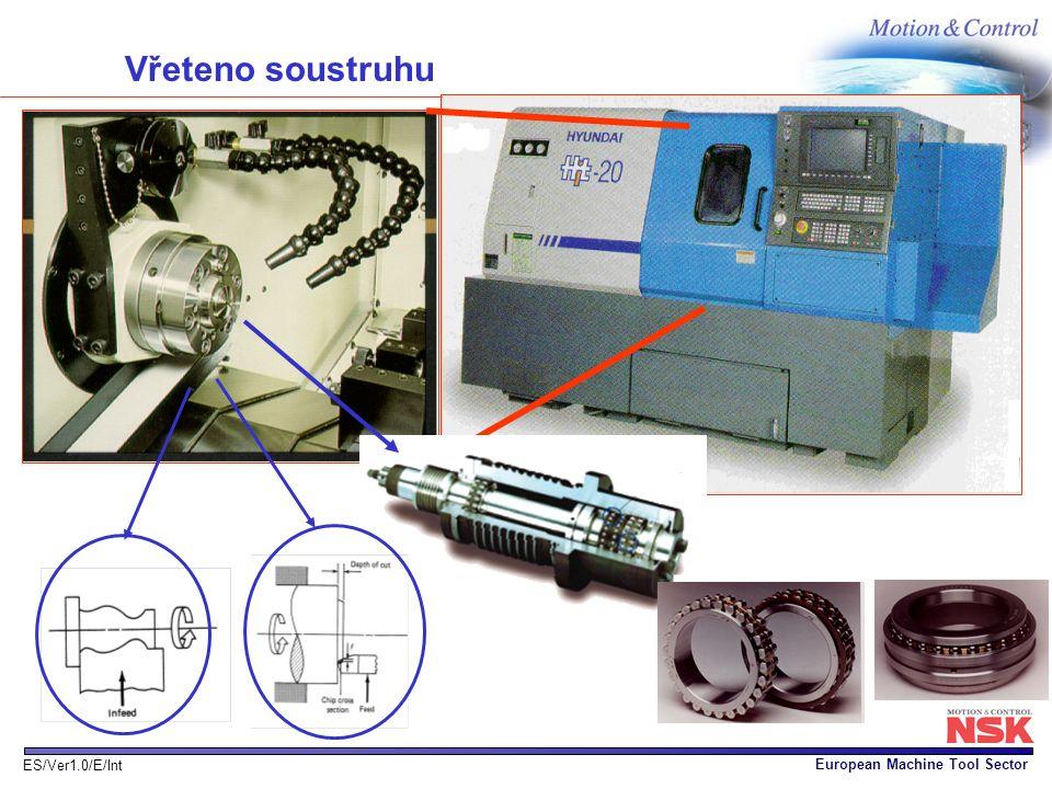 European Machine Tool Sector ES/Ver1.0/E/Int Vřeteno soustruhu