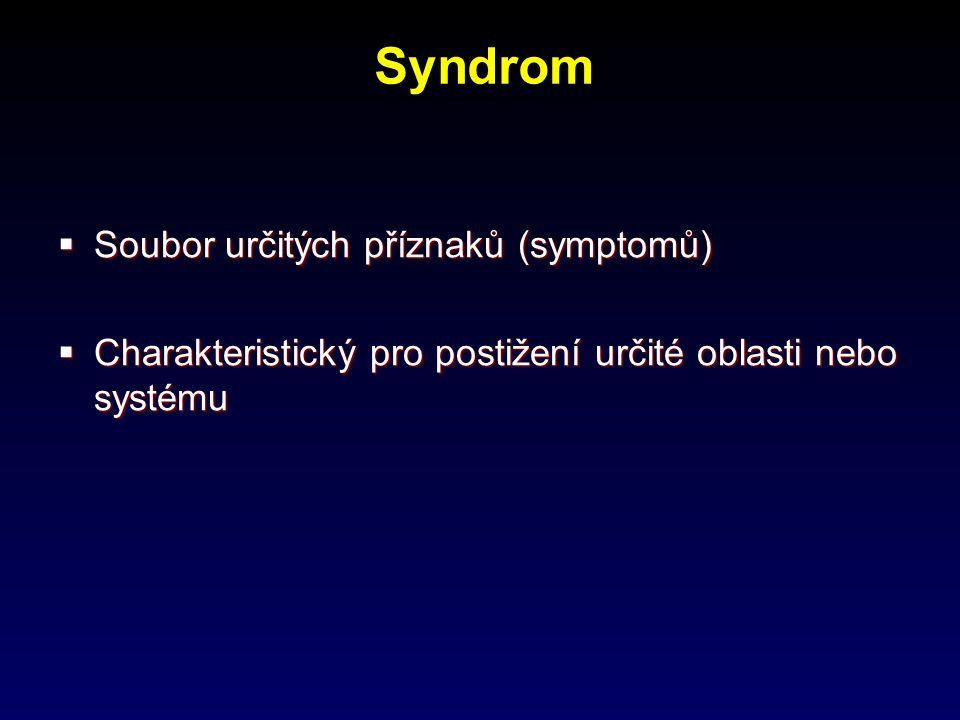 Syndromy hlavových nervů  Vestibulární sy.