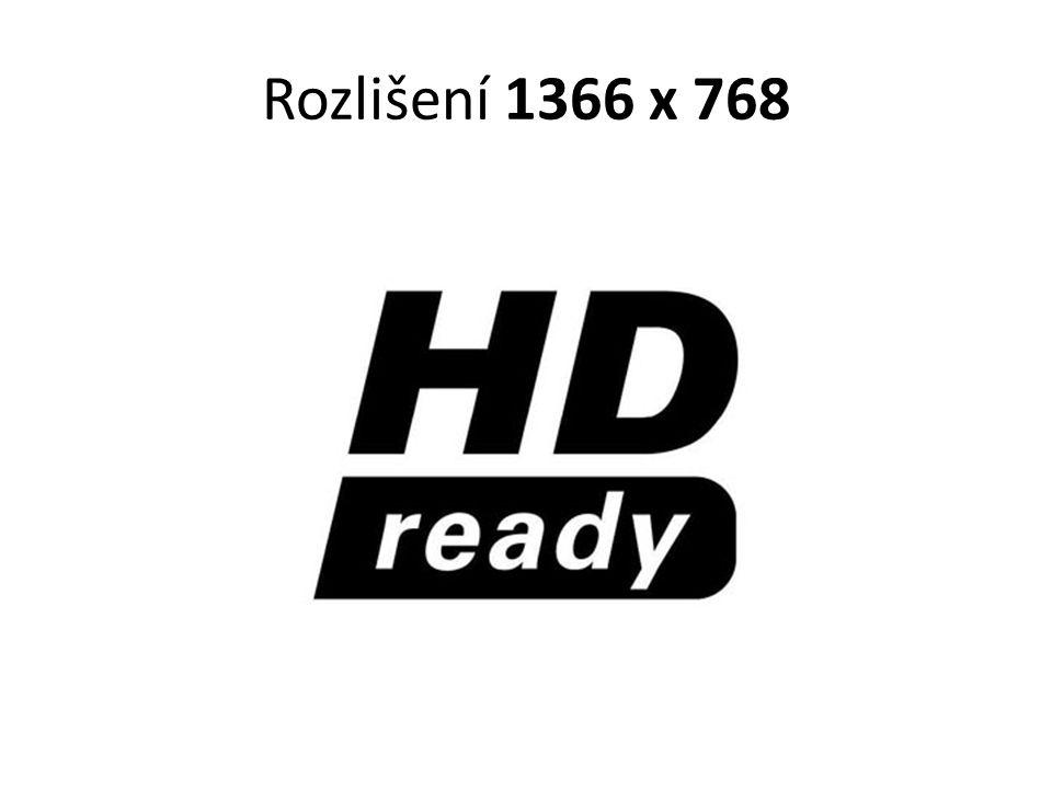 Rozlišení 1366 x 768