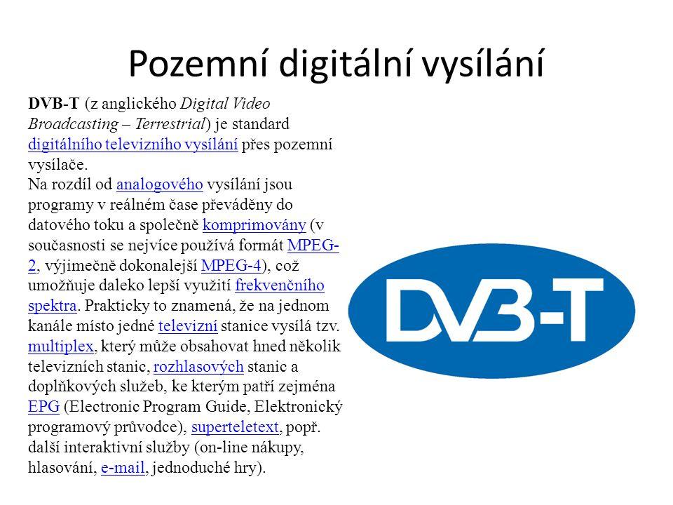 Pozemní digitální vysílání DVB-T (z anglického Digital Video Broadcasting – Terrestrial) je standard digitálního televizního vysílání přes pozemní vysílače.