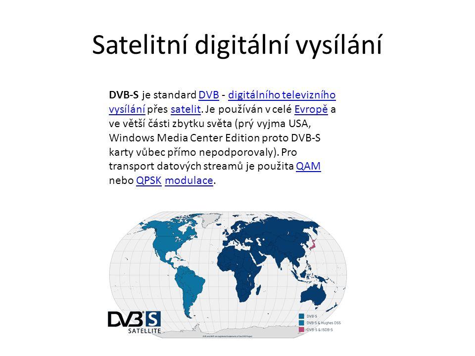 Satelitní digitální vysílání DVB-S je standard DVB - digitálního televizního vysílání přes satelit.