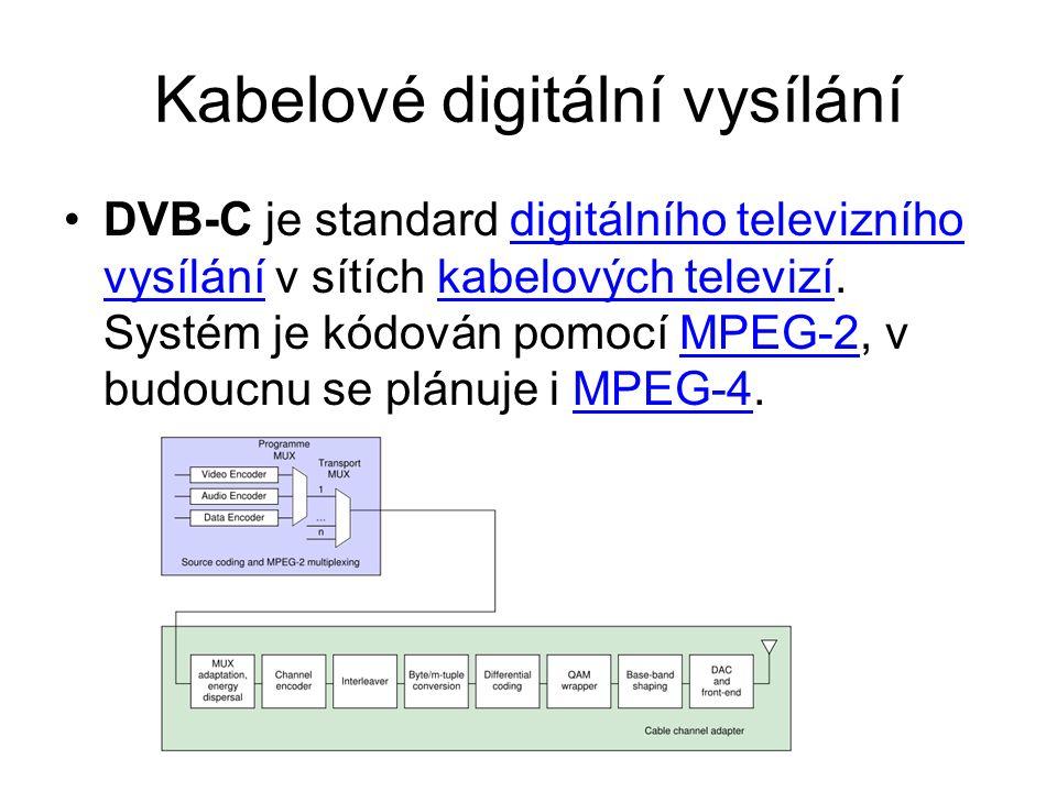 Kabelové digitální vysílání DVB-C je standard digitálního televizního vysílání v sítích kabelových televizí. Systém je kódován pomocí MPEG-2, v budouc