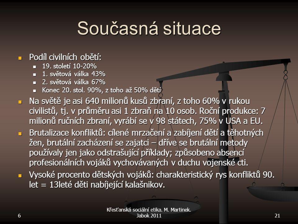 Současná situace Podíl civilních obětí: Podíl civilních obětí: 19.