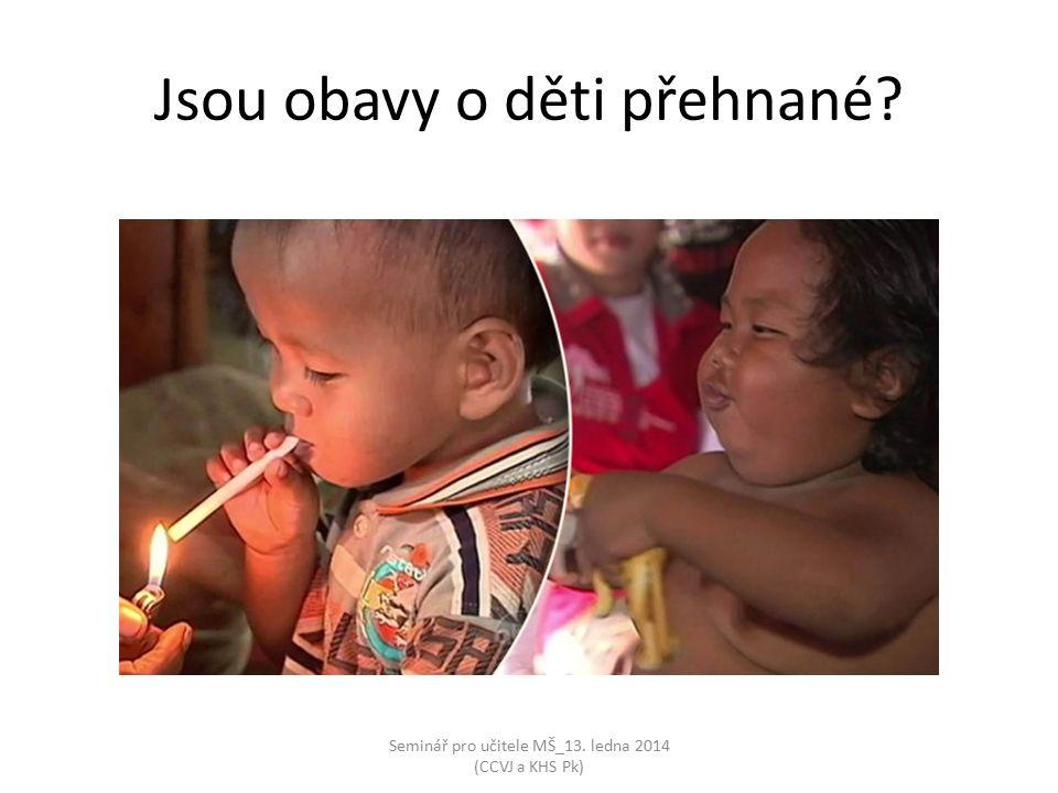Seminář pro učitele MŠ_13. ledna 2014 (CCVJ a KHS Pk) Jsou obavy o děti přehnané?
