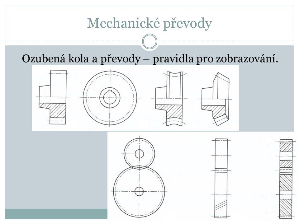 Mechanické převody Ozubená kola a převody – pravidla pro zobrazování.