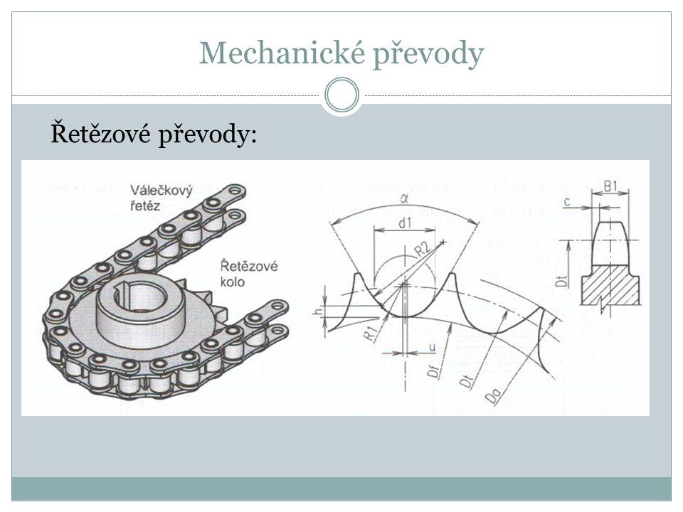 Mechanické převody Řetězové převody: