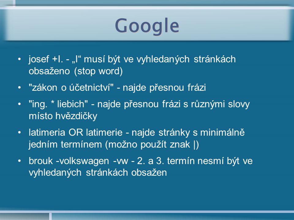 Google josef +I.