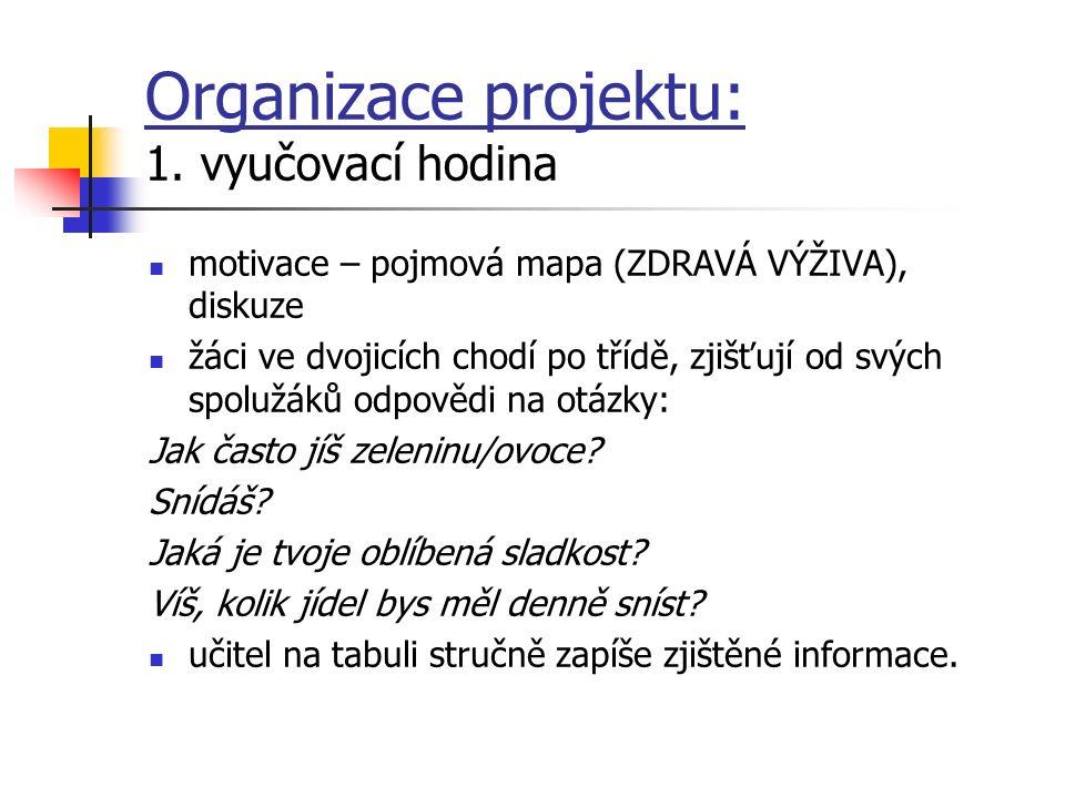 Organizace projektu: 1.