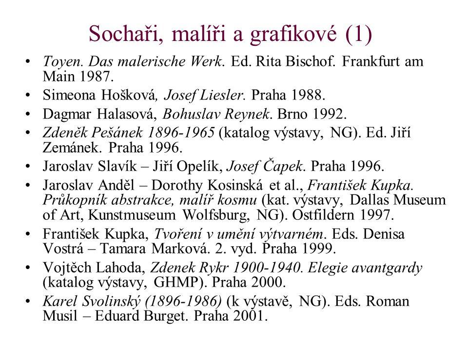 Sochaři, malíři a grafikové (1) Toyen. Das malerische Werk.