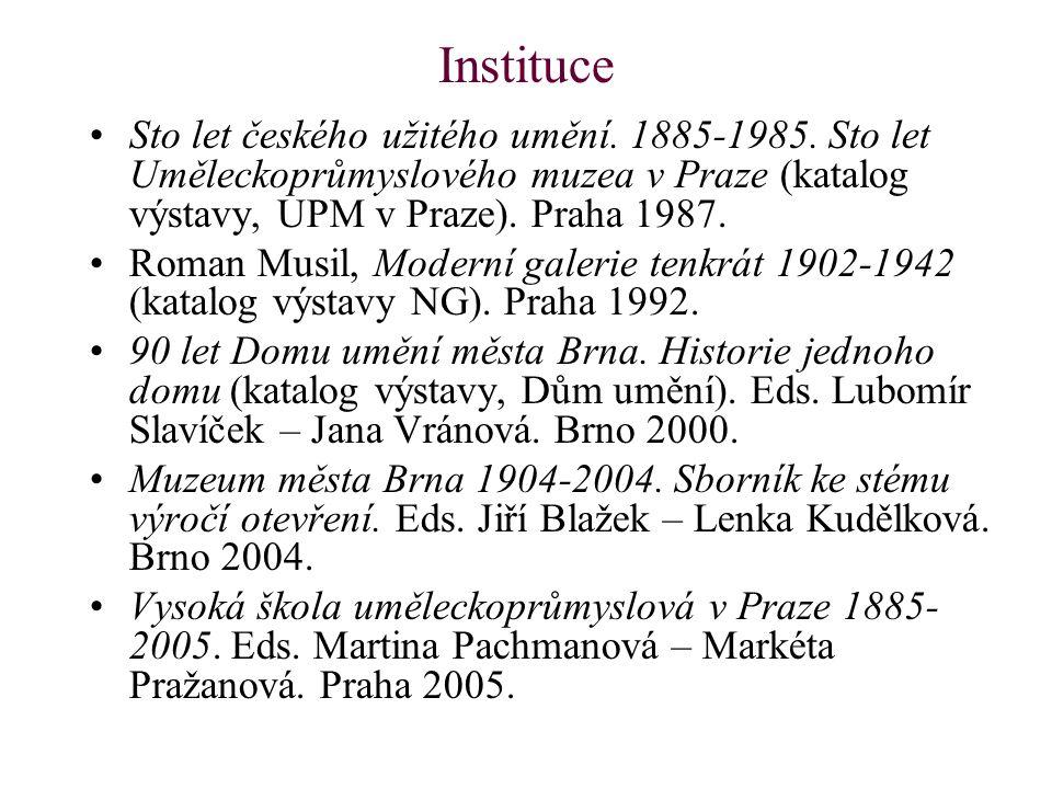 Instituce Sto let českého užitého umění. 1885-1985.