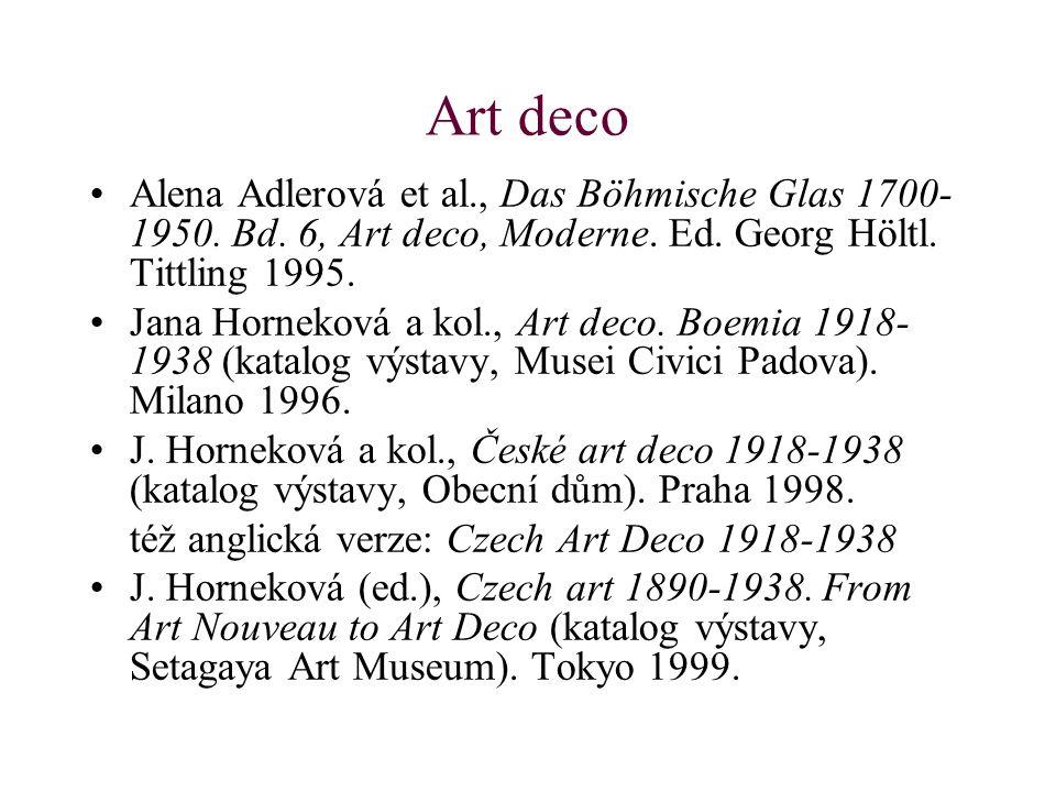Art deco Alena Adlerová et al., Das Böhmische Glas 1700- 1950.