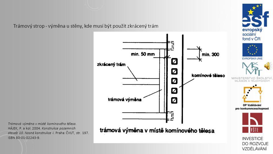 3.1.2. POVALOVÉ STROPY Povalový strop se stropnicemi Povalový strop. HÁJEK, P. a kol. 2004. Konstrukce pozemních staveb 10. Nosné konstrukce I. Praha: