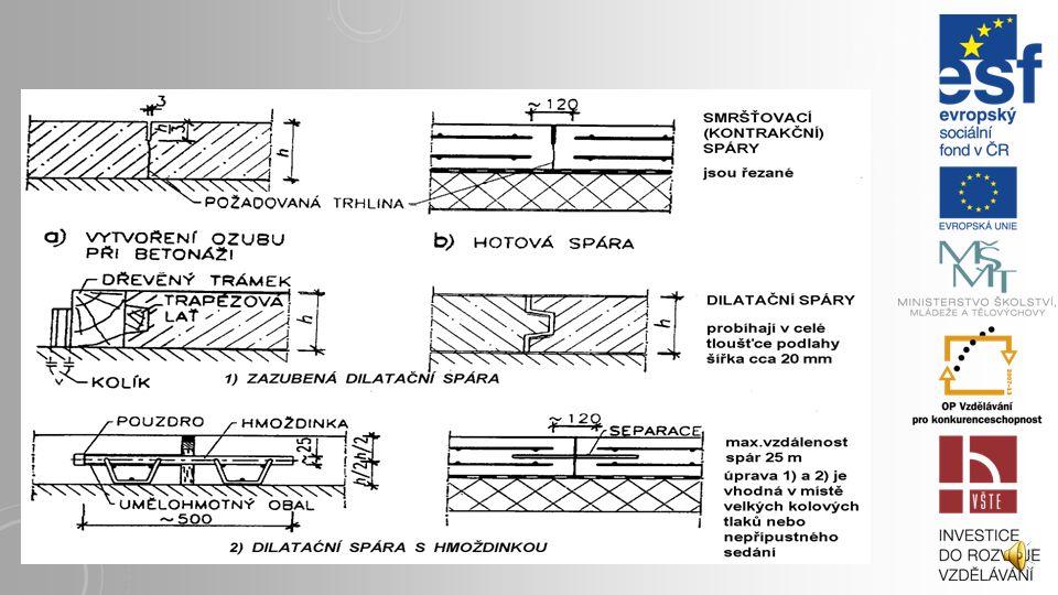 7. 3 TYPIZAČNÍ A KONSTRUKČNÍ ZÁSADY Podlahy jsou navrženy v tloušťkách 20,50,100 a 150 mm. Z hlediska modulového vztahu k ostatním konstrukcím se uvaž