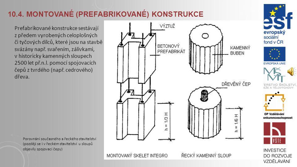 10.3. MONOLITICKÉ KONSTRUKCE S ohledem na špatné tepelně izolační vlastnosti betonu je též vhodné použít pro opláštění tvarovky z polystyrénových dese