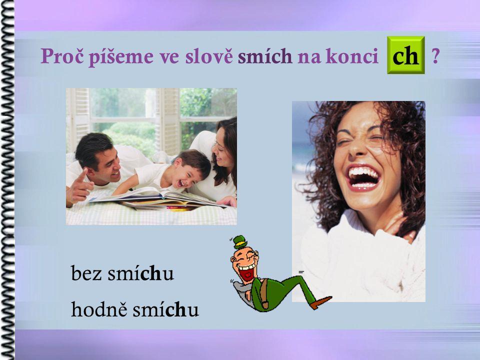 Pro č píšeme ve slov ě smích na konci bez smí ch u hodn ě smí ch u ch