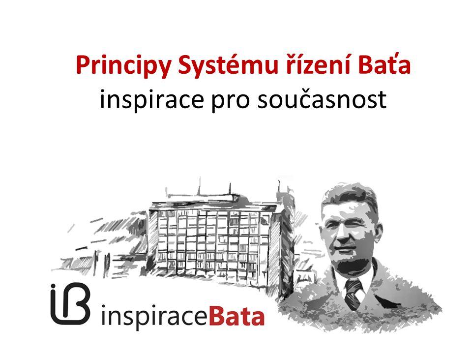 Principy Systému řízení Baťa inspirace pro současnost