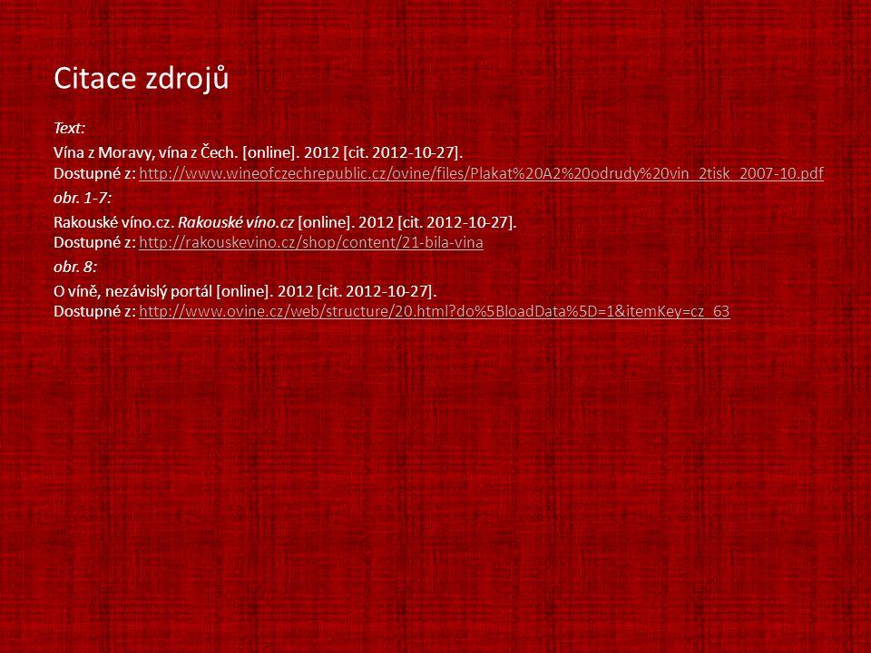 Text: Vína z Moravy, vína z Čech. [online]. 2012 [cit. 2012-10-27]. Dostupné z: http://www.wineofczechrepublic.cz/ovine/files/Plakat%20A2%20odrudy%20v