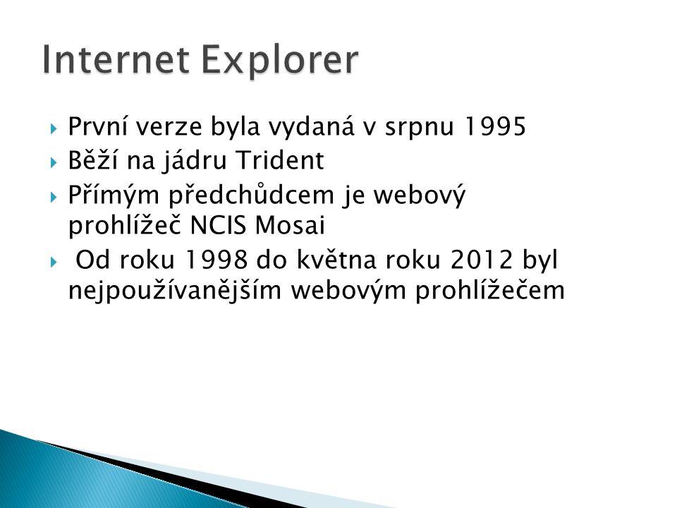  První verze byla vydaná v srpnu 1995  Běží na jádru Trident  Přímým předchůdcem je webový prohlížeč NCIS Mosai  Od roku 1998 do května roku 2012 byl nejpoužívanějším webovým prohlížečem