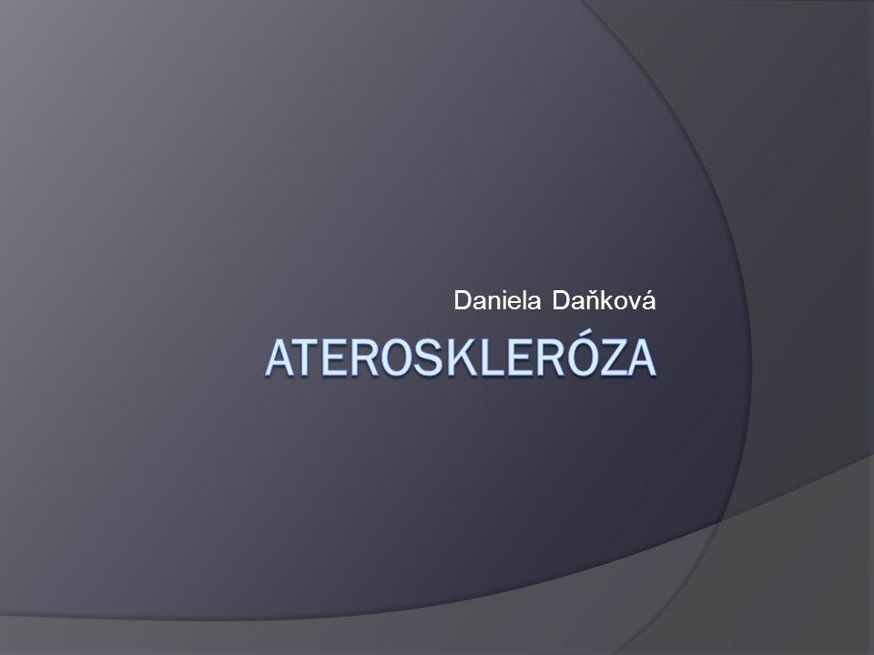 Ateroskleróza – vymezení pojmu  ateroskleróza neboli kornatění tepen je zánětlivé onemocnění cév  do stěny cév se ukládají tukové částice (= lipidy) a vytvářejí v cévní stěně usazeniny tzv.