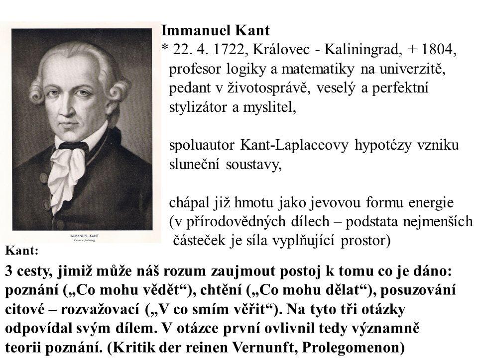 Immanuel Kant * 22.4.