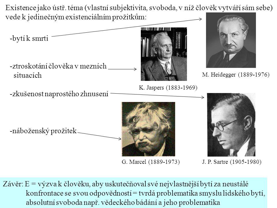 K.Jaspers (1883-1969) M. Heidegger (1889-1976) J.