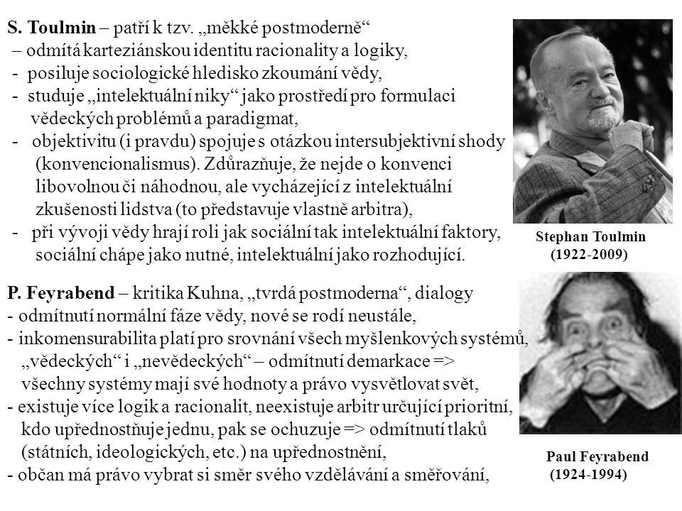 Paul Feyrabend (1924-1994) Stephan Toulmin (1922-2009) S.