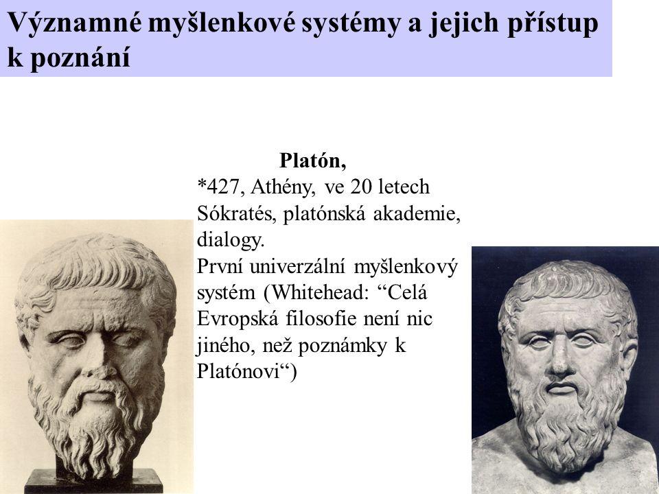 Platón, *427, Athény, ve 20 letech Sókratés, platónská akademie, dialogy.
