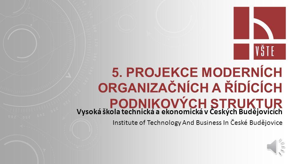 ORGANICKÁ TVORBA STRUKTUR Charakteristika organické tvorby struktury: zaměstnanci spolupracují na společných úkolech ke specifikaci úkolů dochází v průběhu jejich plnění řízení je decentralizováno omezený počet pravidel převaha horizontální komunikace