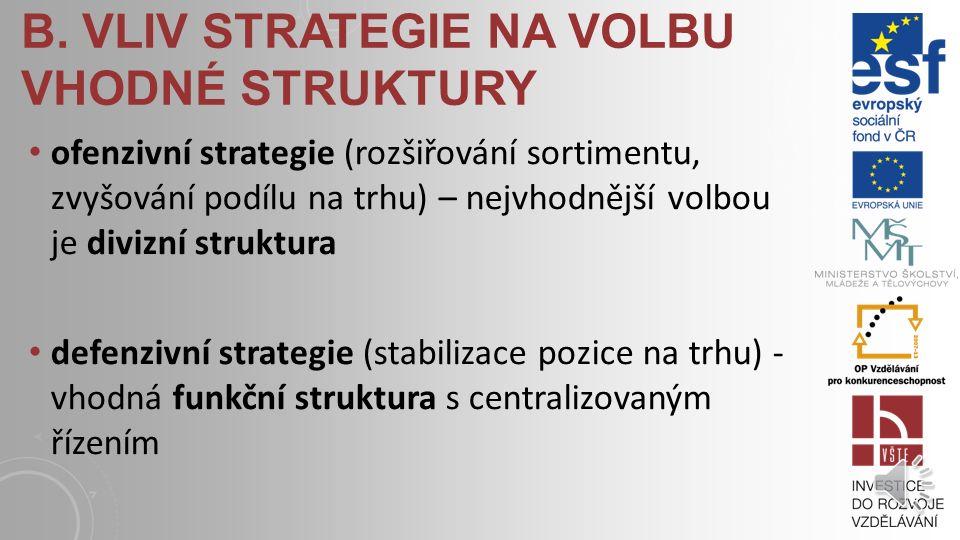 ORGANICKÁ TVORBA STRUKTUR Organický způsob tvorby struktury je uplatňován především v sektoru služeb. Znaky výsledné organizační struktury: integrace