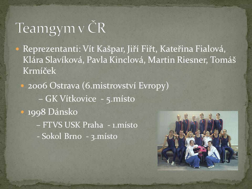 Reprezentanti: Vít Kašpar, Jiří Fiřt, Kateřina Fialová, Klára Slavíková, Pavla Kinclová, Martin Riesner, Tomáš Krmíček 2006 Ostrava (6.mistrovství Evr