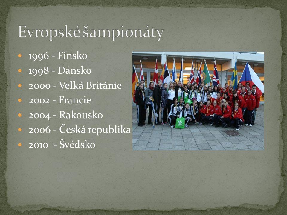 1996 - Finsko 1998 - Dánsko 2000 - Velká Británie 2002 - Francie 2004 - Rakousko 2006 - Česká republika 2010 - Švédsko