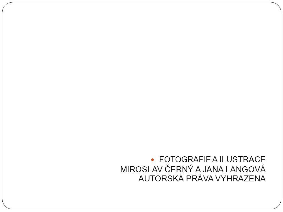 FOTOGRAFIE A ILUSTRACE MIROSLAV ČERNÝ A JANA LANGOVÁ AUTORSKÁ PRÁVA VYHRAZENA
