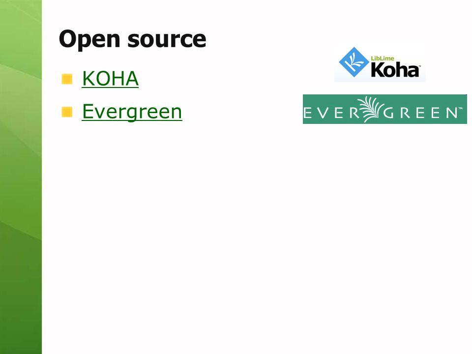 Open source KOHA Evergreen