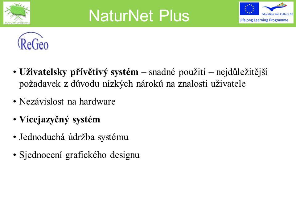 NaturNet Plus Geo-multimediální informační systém přináší výhody pro:  Přírodní rezervace a parky  Cestovní agentury  Návštěvníky a turisty  Místní společnosti  Místní administrativa