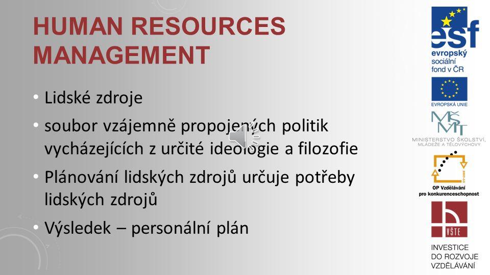 PERSONÁLNÍ PLÁNOVÁNÍ V RÁMCI PODNIKATELSKÉHO PLÁNU plán personální potřeb, popis pracovních míst, vlastní personální plán.