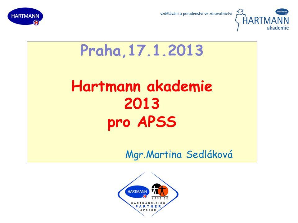 Praha,17.1.2013 Hartmann akademie 2013 pro APSS Mgr.Martina Sedláková