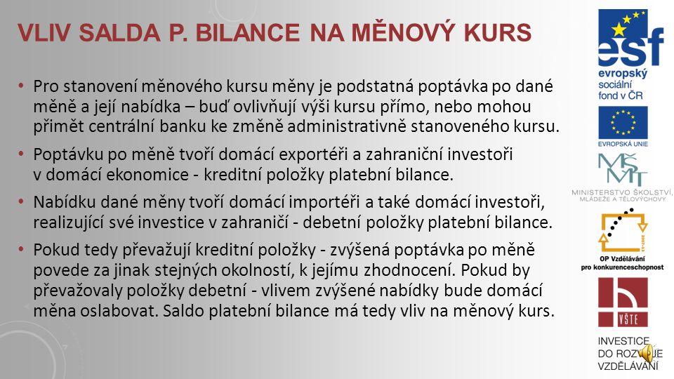 FINANČNÍ ÚČET Důležitou součástí finančního účtu jsou přímé zahraniční investice - ty jsou ovlivněny například investičními pobídkami domácí vlády, vý