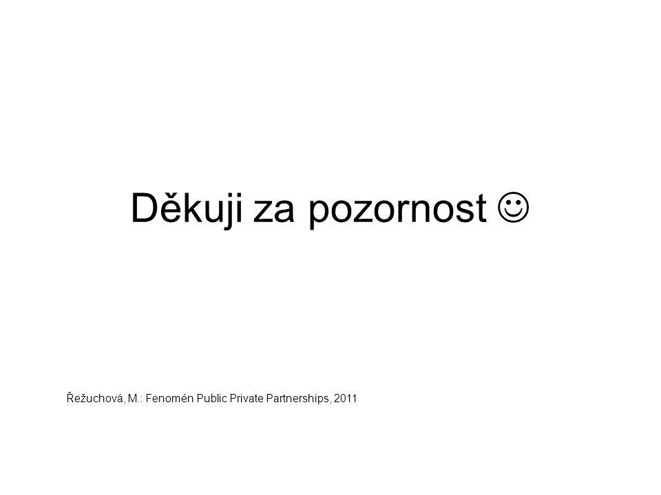 Děkuji za pozornost Řežuchová, M.: Fenomén Public Private Partnerships, 2011