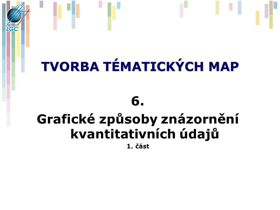 TVORBA TÉMATICKÝCH MAP 6. Grafické způsoby znázornění kvantitativních údajů 1. část