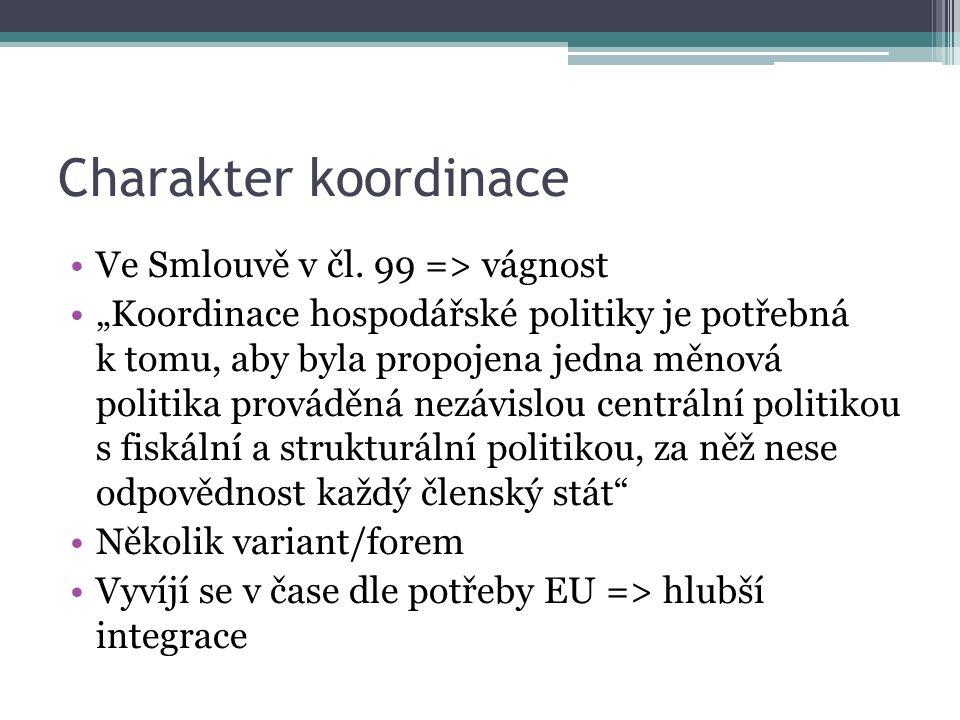 Charakter koordinace Ve Smlouvě v čl.