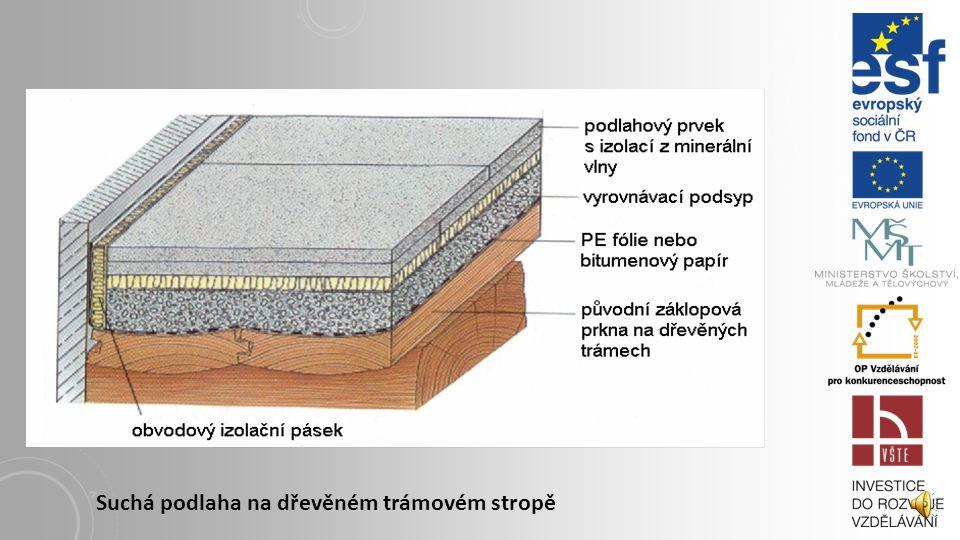 8. 2 SUCHÉ PODKLADY Suché podlahy odstraňují mokrý proces, který prodlužuje délku výstavby. Mají nízkou hmotnost a lze po jejich položení velmi rychle