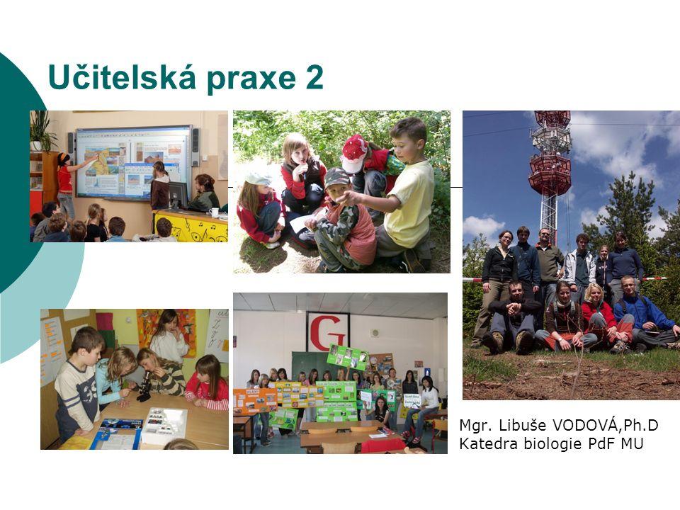 Učitelská praxe 2 Mgr. Libuše VODOVÁ,Ph.D Katedra biologie PdF MU