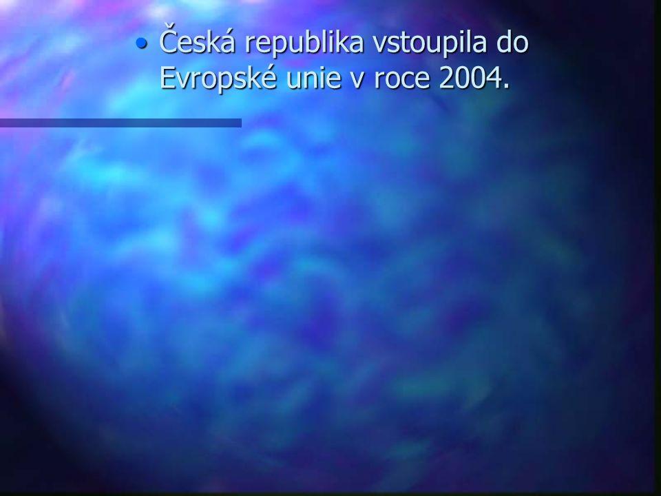 Česká republika vstoupila do Evropské unie v roce 2004.Česká republika vstoupila do Evropské unie v roce 2004.