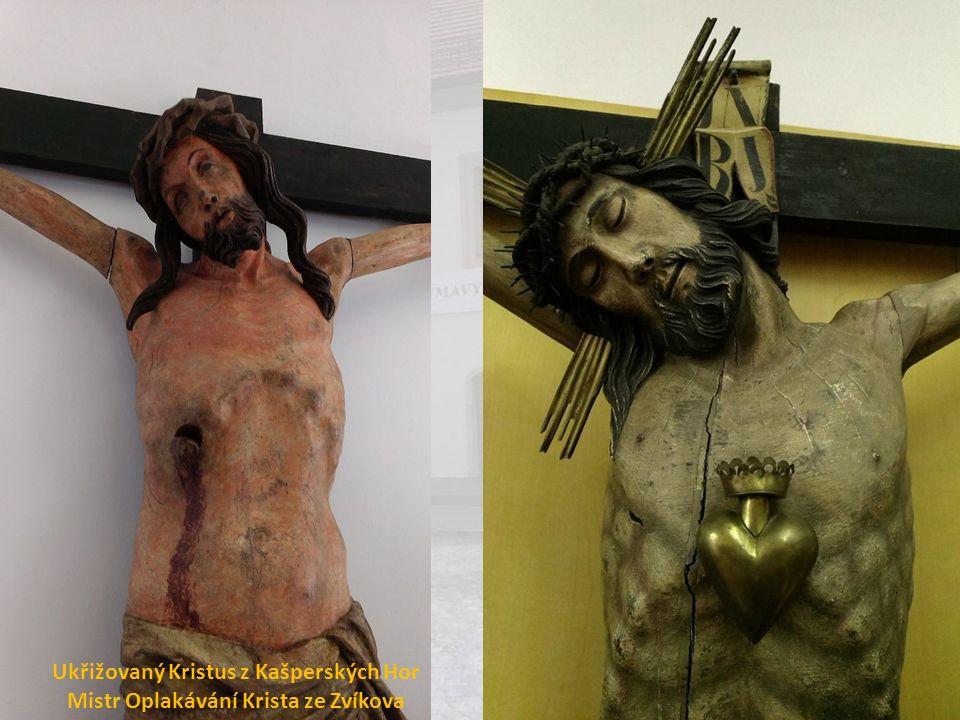 Ukřižovaný Kristus z Kašperských Hor Mistr Oplakávání Krista ze Zvíkova