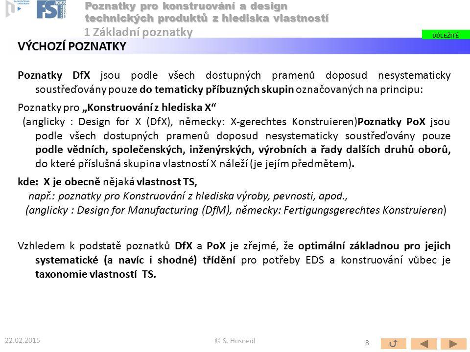 Poznatky DfX jsou podle všech dostupných pramenů doposud nesystematicky soustřeďovány pouze do tematicky příbuzných skupin označovaných na principu: P